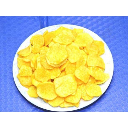Crispy Vacuum Fried Sweet Potato Slice Cut